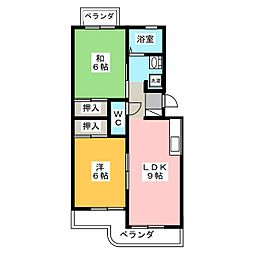諏訪台マンション[3階]の間取り