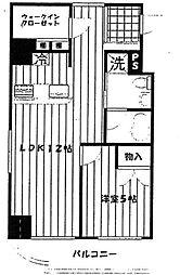 ライフレビュー横濱関内パークフロント[7階]の間取り