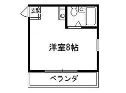 コーポルマン[3階]の間取り