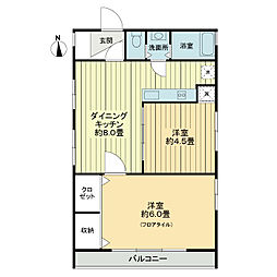 クレインパレス南長崎[4階]の間取り