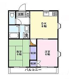 ラフィーヌ・青柳I[3階]の間取り