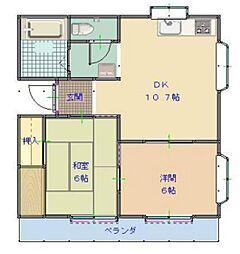 コーポラスA棟[2階]の間取り
