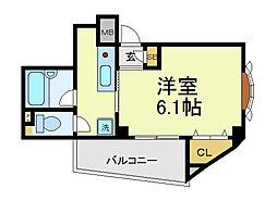 グランド上六[3階]の間取り
