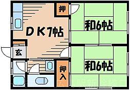 広島県広島市東区矢賀2丁目の賃貸アパートの間取り