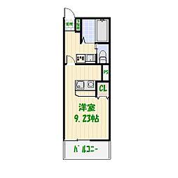 ブレイブコート[2階]の間取り