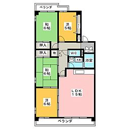 インテリジェント高間台II号館[1階]の間取り