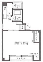 エコビル[5階号室]の間取り