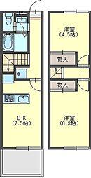 [テラスハウス] 奈良県香芝市上中 の賃貸【/】の間取り