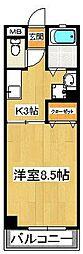 ビラシティー鈴木II[404号室]の間取り