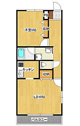マーチA陽東[2階]の間取り
