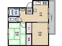 第1サンハイツ[4階]の間取り