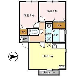 メゾン・ド・東通[1階]の間取り