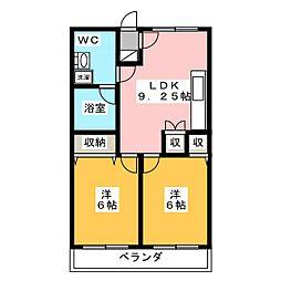 陽東Garden[2階]の間取り