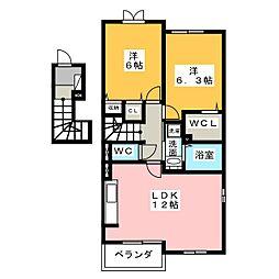 アンジュI[2階]の間取り