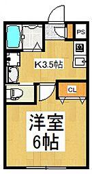 プチ・モンターニュ[2階]の間取り