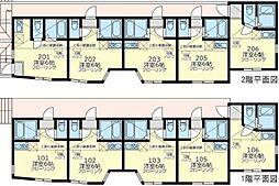 JR横須賀線 保土ヶ谷駅 徒歩9分の賃貸アパート 1階ワンルームの間取り