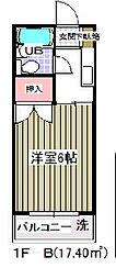 ハイツマルヤC棟[2階]の間取り