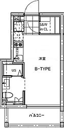 B CITY APARTMENT TACHIKAWA[204号室号室]の間取り