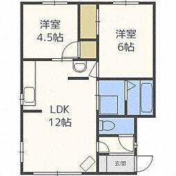 クイン札幌[2階]の間取り