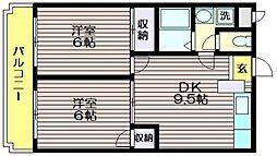 パストラルマンションM2[A406号室]の間取り