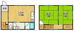 [テラスハウス] 兵庫県宝塚市山本南2丁目 の賃貸【兵庫県 / 宝塚市】の間取り