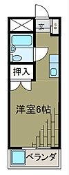 メゾンオモテ[1階]の間取り