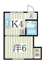コーポヨシダ[1階]の間取り