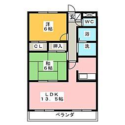 ソレアード羽根[2階]の間取り