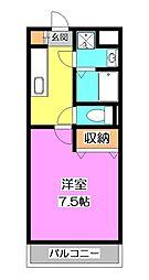 東京都東村山市久米川町3の賃貸マンションの間取り