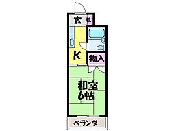 コーポワタナベ・[2階]の間取り