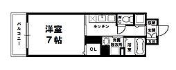 S-FORT新大阪ravir[8階]の間取り