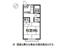 長野県岡谷市本町3丁目の賃貸アパートの間取り