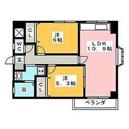 メゾンメモワール[2階]の間取り
