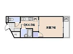広島県広島市佐伯区三宅4丁目の賃貸マンションの間取り