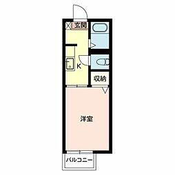 ハイツフラーリシュII 108[1階]の間取り