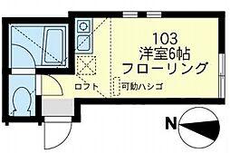 JR南武線 川崎新町駅 徒歩9分の賃貸アパート 1階ワンルームの間取り