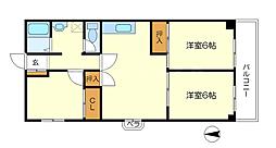 箕面エレガンスハイツ[3階]の間取り