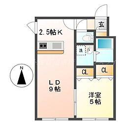 北海道札幌市東区北二十五条東14丁目の賃貸マンションの間取り