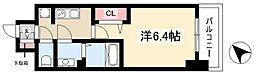 アステリ鶴舞トゥリア 9階1Kの間取り