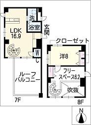 Dio[8階]の間取り