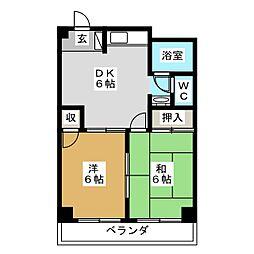 さくらマンション[5階]の間取り