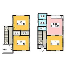 [テラスハウス] 静岡県富士宮市外神東町 の賃貸【/】の間取り