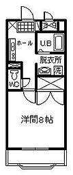 サンライズ山田[308号室]の間取り