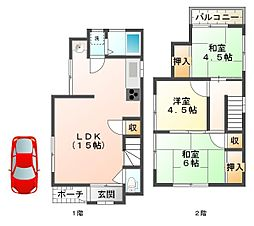 [一戸建] 兵庫県神戸市垂水区狩口台6丁目 の賃貸【/】の間取り