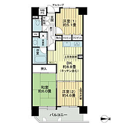 ライオンズマンション富沢公園[5階]の間取り