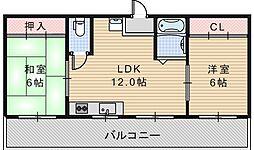 アスターハイツ[5階]の間取り