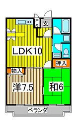 鈴谷カワベマンション[1階]の間取り