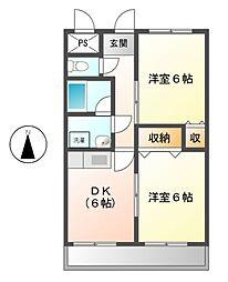 愛知県名古屋市中川区柳島町2丁目の賃貸マンションの間取り