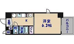 ル・パルトネール天王寺真田山[5階]の間取り