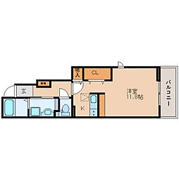 JR東海道本線 藤枝駅 バス10分 南駿河台四丁目下車 徒歩2分の賃貸アパート 1階1Kの間取り
